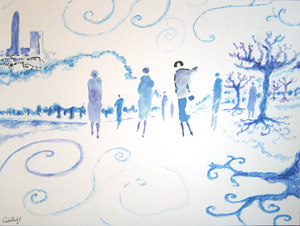 "0442 ""Winter in blue""""Invierno en Azul"""